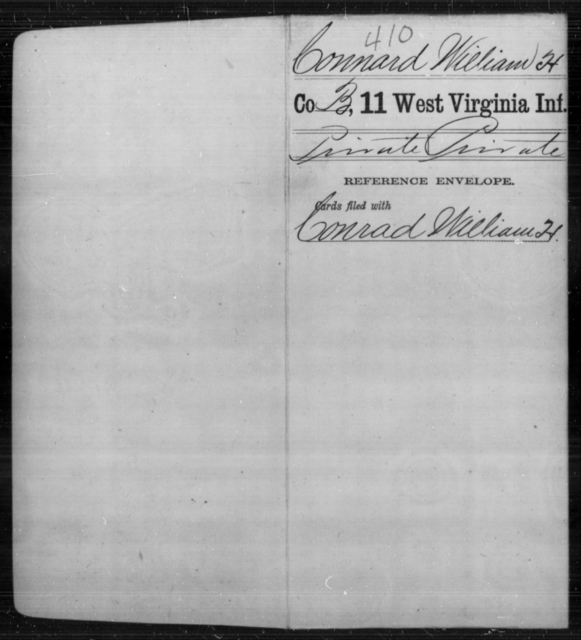 Connard, William H - Age [Blank], Year: [Blank] - Eleventh Infantry - West Virginia
