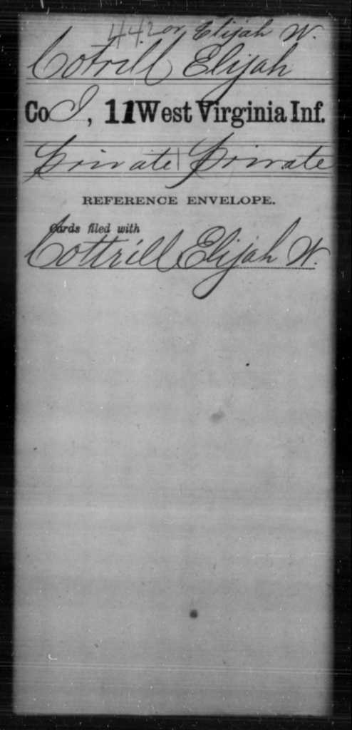 Cotrill, Elijah - Age [Blank], Year: [Blank] - Eleventh Infantry - West Virginia