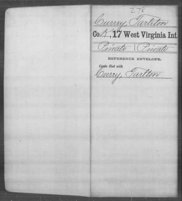 Currey, Tarleton - Age [Blank], Year: [Blank] - Seventeenth Infantry - West Virginia