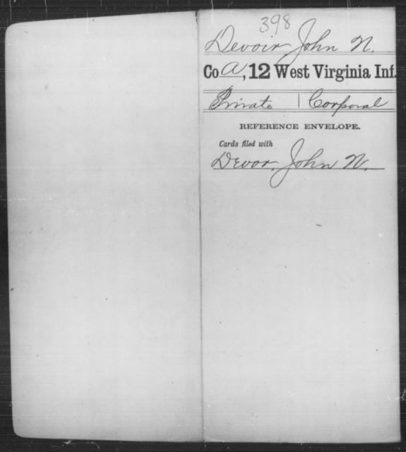 Devoir, John N - Age [Blank], Year: [Blank] - Twelfth Infantry - West Virginia
