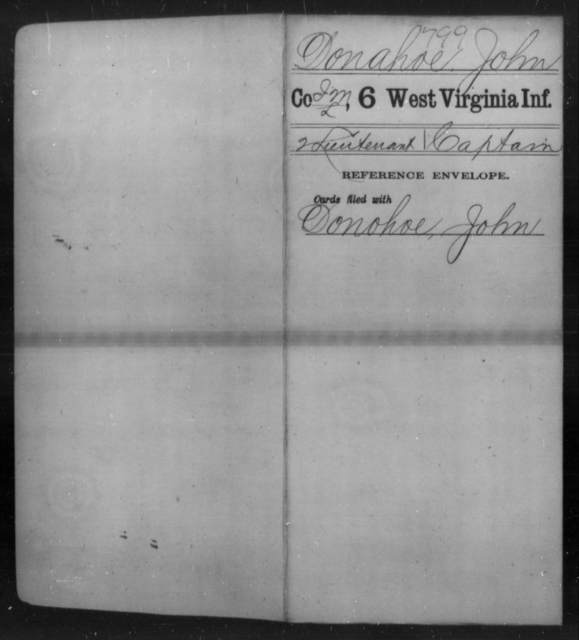 Donahoe, John - Age [Blank], Year: [Blank] - Sixth Infantry - West Virginia