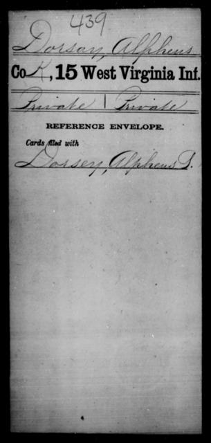 Dorsay, Alpheus - Age [Blank], Year: [Blank] - Fifteenth Infantry - West Virginia