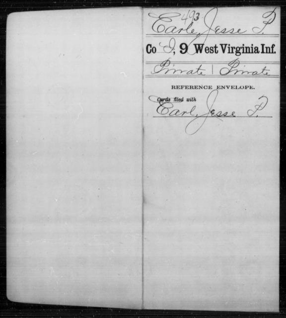 Earles, Jesse P - Age [Blank], Year: [Blank] - Ninth Infantry - West Virginia