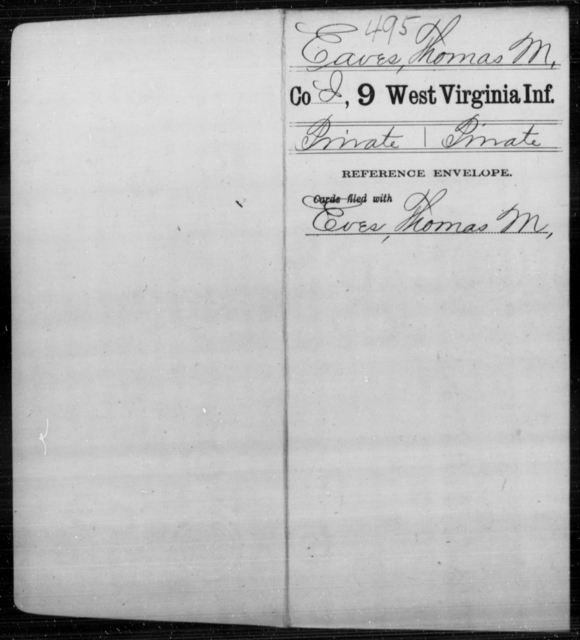 Eaves, Thomas M - Age [Blank], Year: [Blank] - Ninth Infantry - West Virginia