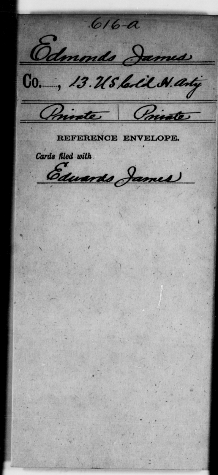 Edmonds, James - Age [Blank], Year: [Blank] - 13th US Colored Heavy Artillery - United States Colored Troops: Artillery Organizations