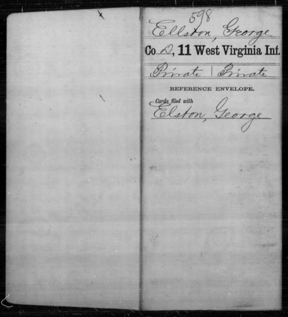 Ellston, George - Age [Blank], Year: [Blank] - Eleventh Infantry - West Virginia