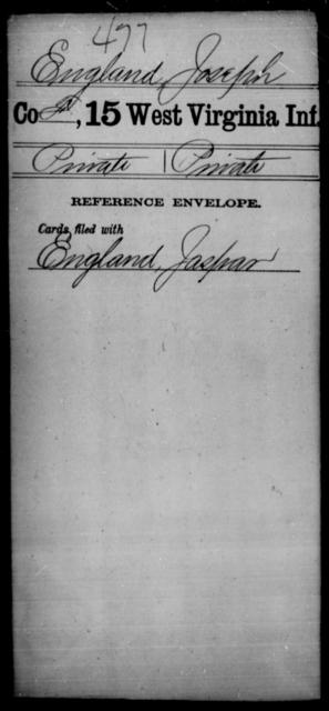 England, Joseph - Age [Blank], Year: [Blank] - Fifteenth Infantry - West Virginia