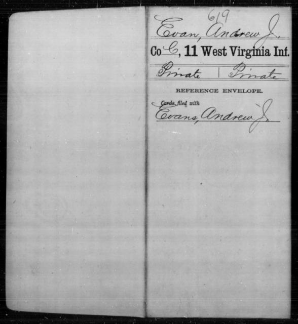 Evan, Andrew J - Age [Blank], Year: [Blank] - Eleventh Infantry - West Virginia