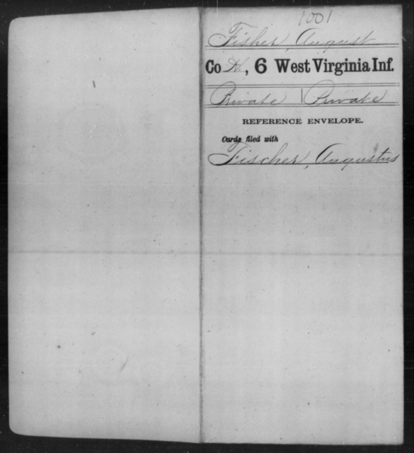 Fisher, August - Age [Blank], Year: [Blank] - Sixth Infantry - West Virginia