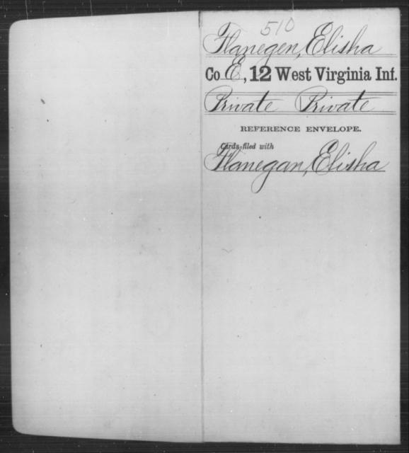 Flanegen, Elisha - Age [Blank], Year: [Blank] - Twelfth Infantry - West Virginia