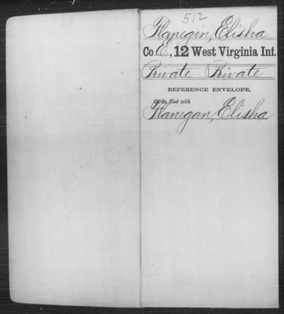Flanegin, Elisha - Age [Blank], Year: [Blank] - Twelfth Infantry - West Virginia