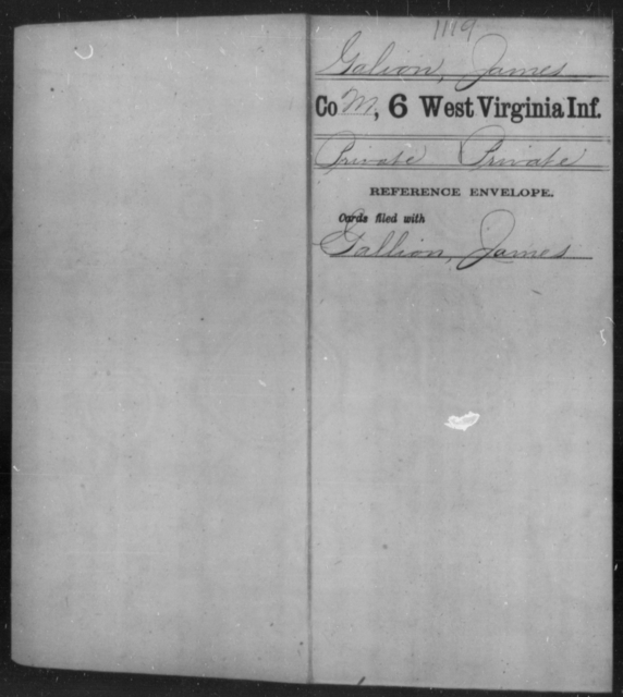 Galion, James - Age [Blank], Year: [Blank] - Sixth Infantry - West Virginia