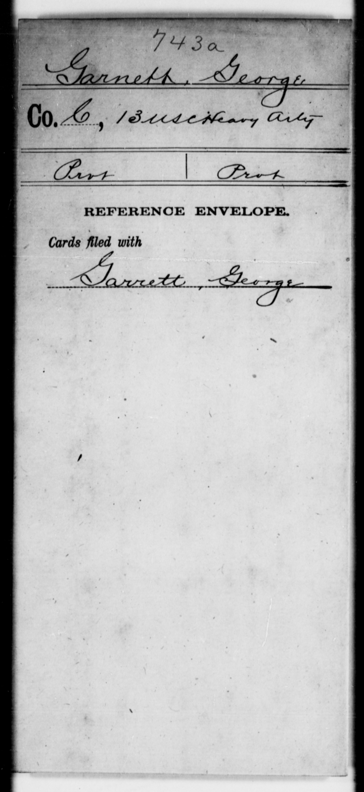 Garnett, George - Age [Blank], Year: [Blank] - 13th US Colored Heavy Artillery - United States Colored Troops: Artillery Organizations