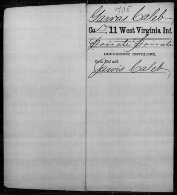 Garvas, Caleb - Age [Blank], Year: [Blank] - Eleventh Infantry - West Virginia