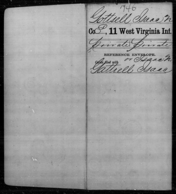 Gottsell, Isaac N - Age [Blank], Year: [Blank] - Eleventh Infantry - West Virginia