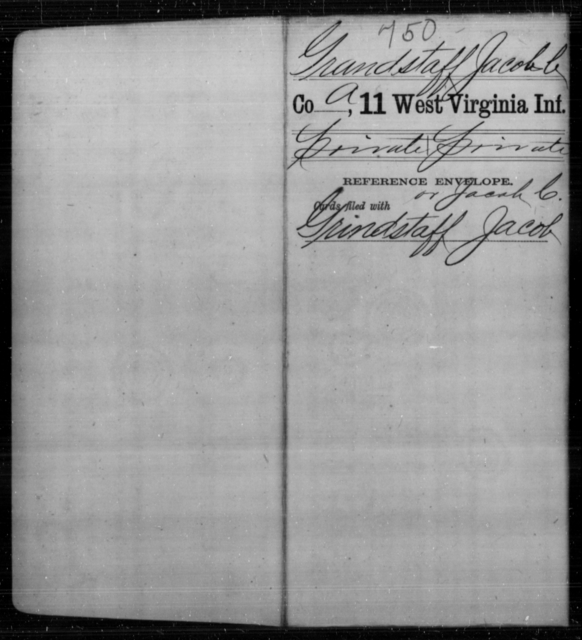 Grandstaff, Jacob C - Age [Blank], Year: [Blank] - Eleventh Infantry - West Virginia