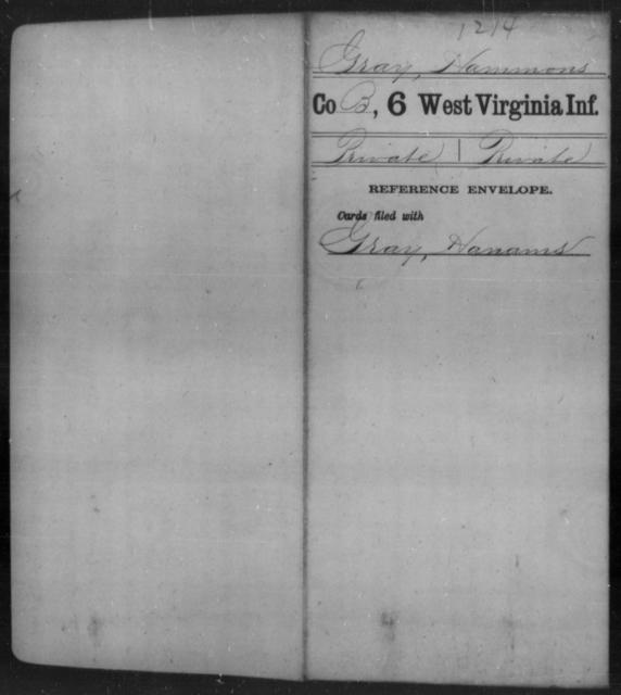 Gray, Hammons - Age [Blank], Year: [Blank] - Sixth Infantry - West Virginia