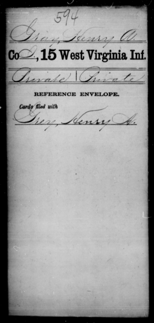 Gray, Henry A - Age [Blank], Year: [Blank] - Fifteenth Infantry - West Virginia