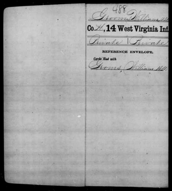 Grooms, William H H - Age [Blank], Year: [Blank] - Fourteenth Infantry, C-Z - West Virginia