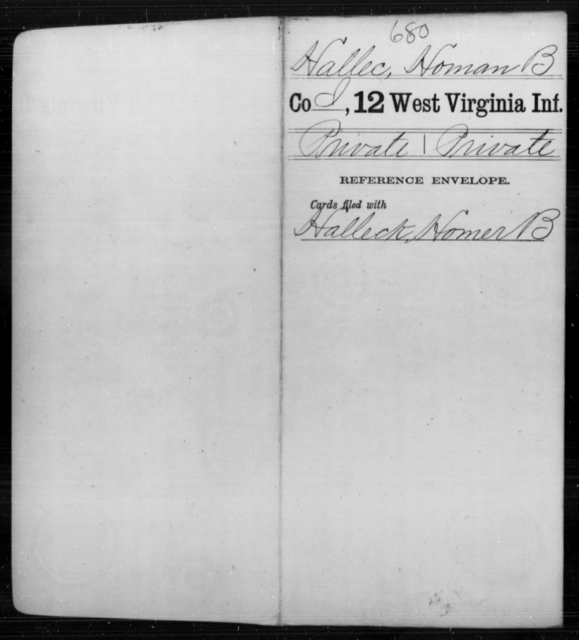 Hallec, Homan B - Age [Blank], Year: [Blank] - Twelfth Infantry - West Virginia