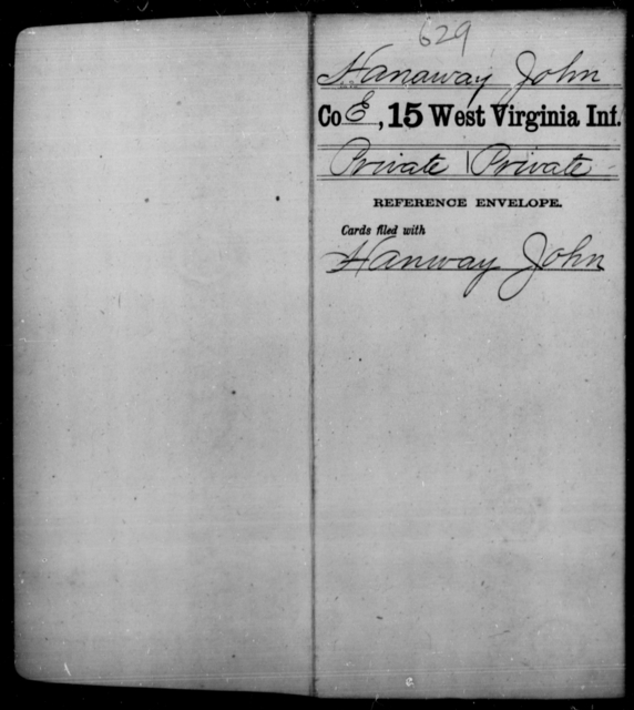 Hanaway, John - Age [Blank], Year: [Blank] - Fifteenth Infantry - West Virginia