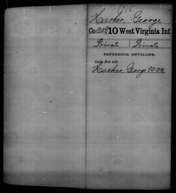 Harker, George - Age [Blank], Year: [Blank] - Tenth Infantry - West Virginia