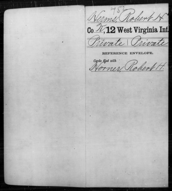 Herms, Robert H - Age [Blank], Year: [Blank] - Twelfth Infantry - West Virginia