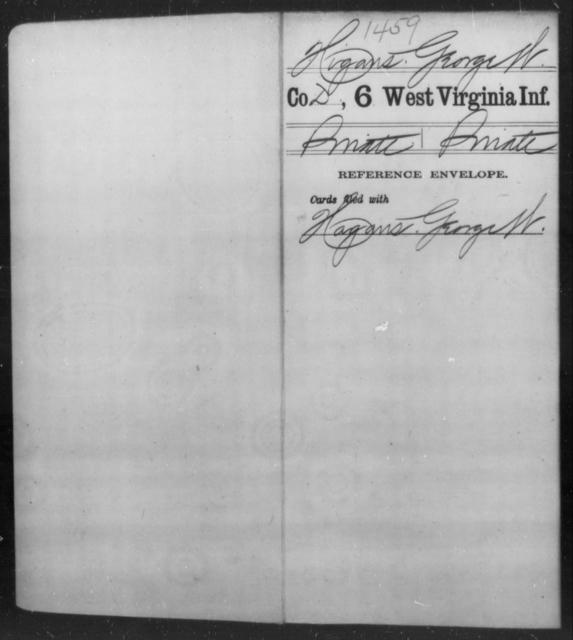 Higans, George W - Age [Blank], Year: [Blank] - Sixth Infantry - West Virginia
