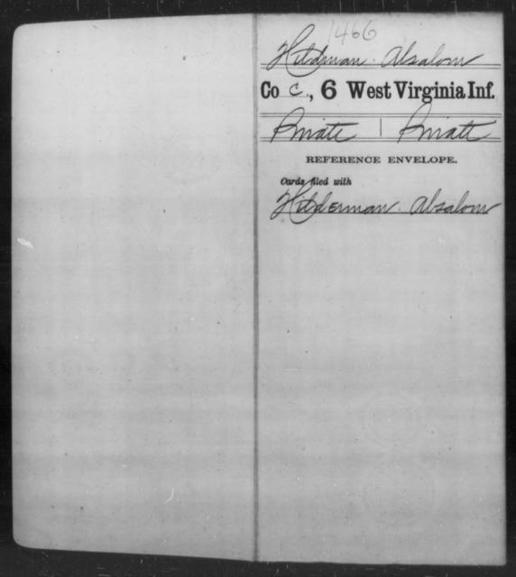 Hildman, Absalom - Age [Blank], Year: [Blank] - Sixth Infantry - West Virginia