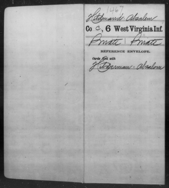 Hildmand, Absalem - Age [Blank], Year: [Blank] - Sixth Infantry - West Virginia