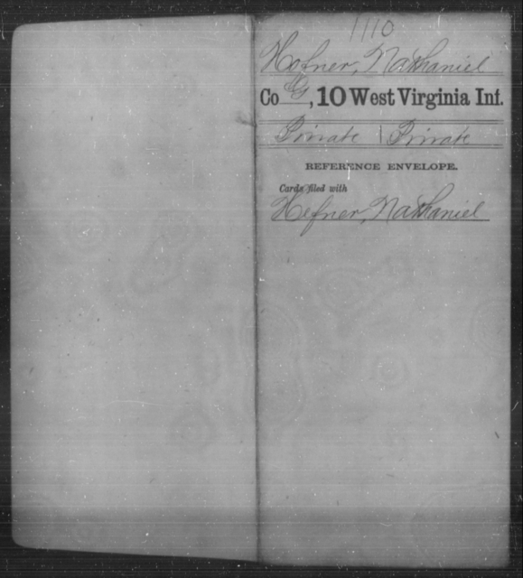 Hofner, Nathaniel - Age [Blank], Year: [Blank] - Tenth Infantry - West Virginia