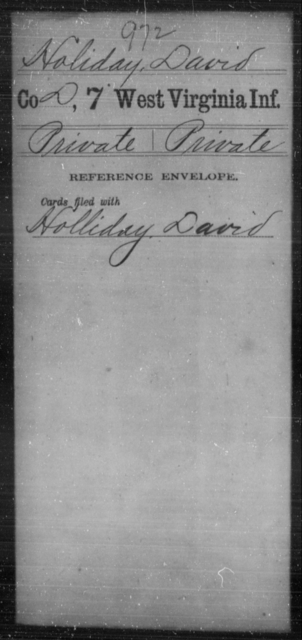 Holiday, David - Age [Blank], Year: [Blank] - Seventh Infantry - West Virginia