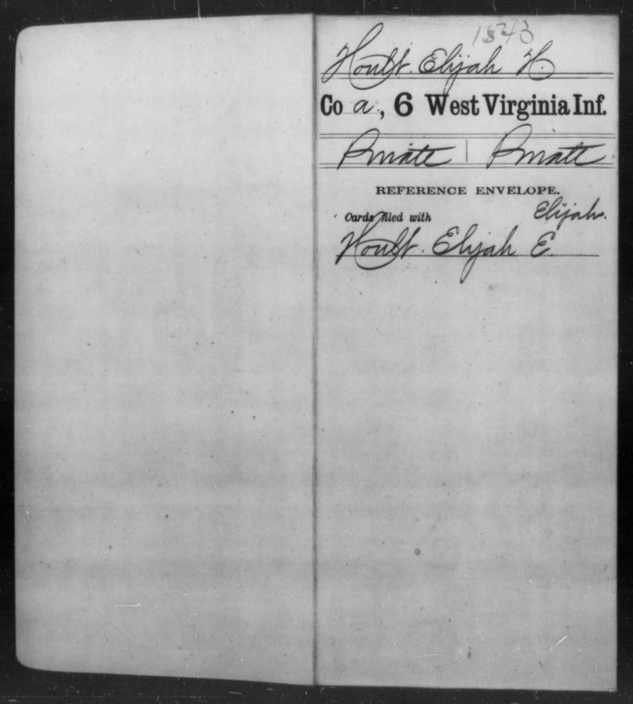 Hoult, Elijah H - Age [Blank], Year: [Blank] - Sixth Infantry - West Virginia