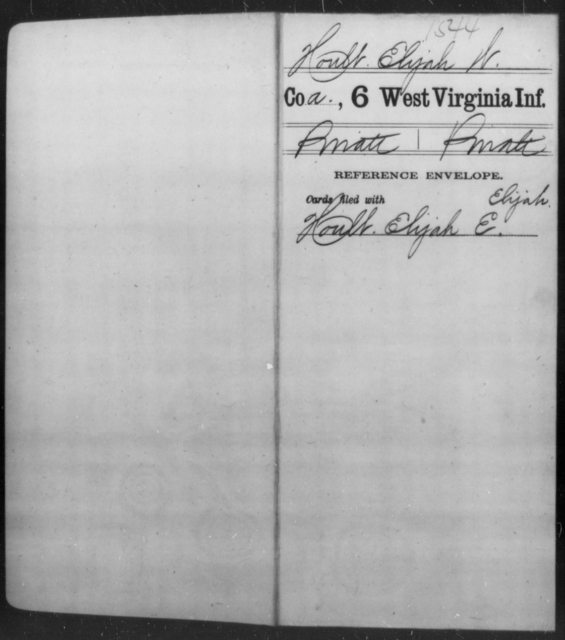 Hoult, Elijah W - Age [Blank], Year: [Blank] - Sixth Infantry - West Virginia