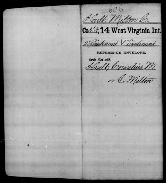 Hoult, Milton C - Age [Blank], Year: [Blank] - Fourteenth Infantry, C-Z - West Virginia