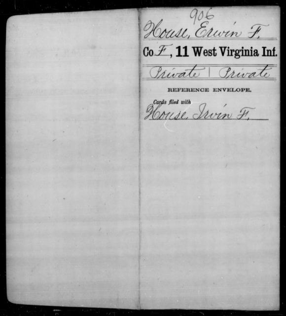 House, Erwin F - Age [Blank], Year: [Blank] - Eleventh Infantry - West Virginia