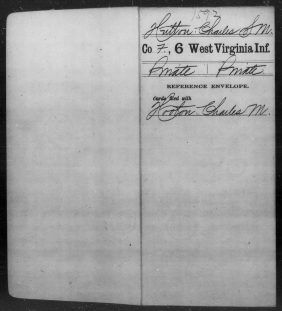 Hutton, Charles S M - Age [Blank], Year: [Blank] - Sixth Infantry - West Virginia