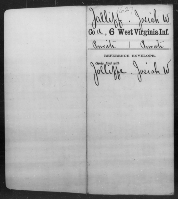 Jalliff, Josiah W - Age [Blank], Year: [Blank] - Sixth Infantry - West Virginia