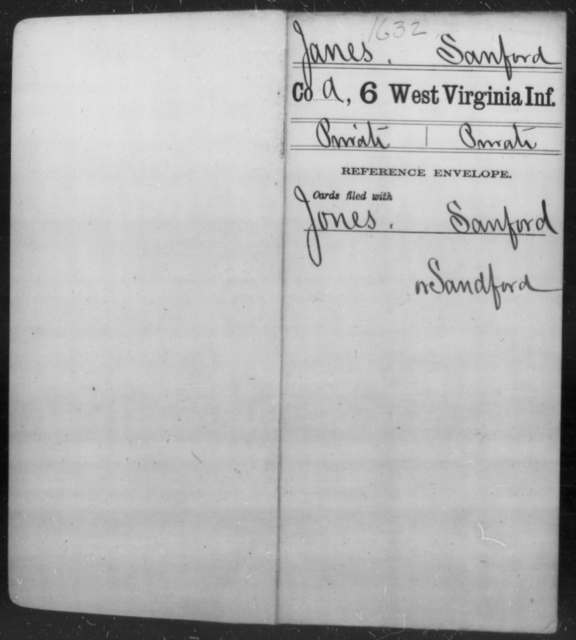 Janes, Sanford - Age [Blank], Year: [Blank] - Sixth Infantry - West Virginia