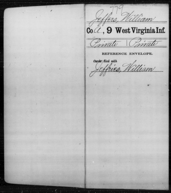 Jeffers, William - Age [Blank], Year: [Blank] - Ninth Infantry - West Virginia