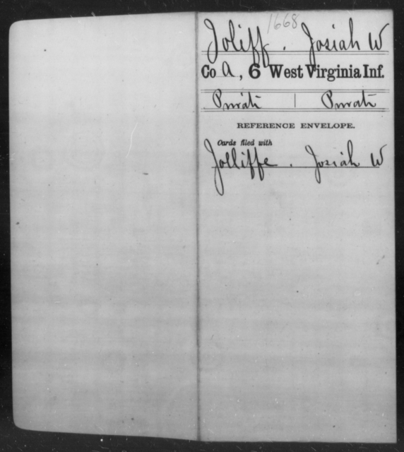 Joliff, Josiah W - Age [Blank], Year: [Blank] - Sixth Infantry - West Virginia