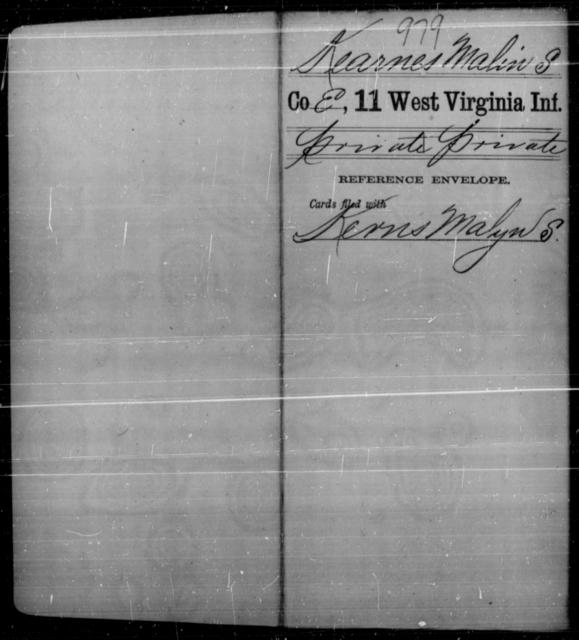 Kearnes, Malin S - Age [Blank], Year: [Blank] - Eleventh Infantry - West Virginia