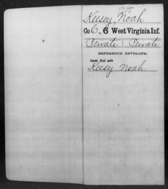 Keesey, Noah - Age [Blank], Year: [Blank] - Sixth Infantry - West Virginia