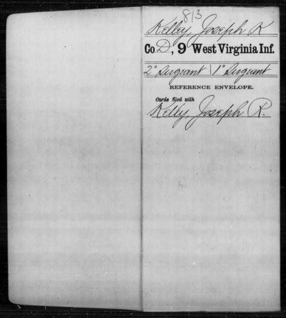 Kelley, Joseph K - Age [Blank], Year: [Blank] - Ninth Infantry - West Virginia