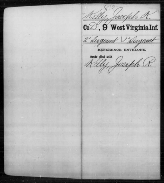 Kelly, Joseph K - Age [Blank], Year: [Blank] - Ninth Infantry - West Virginia