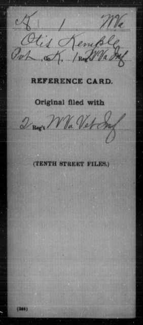 Kemple, Otis - Age [Blank], Year: [Blank] - Miscellaneous Card Abstracts of Records - West Virginia