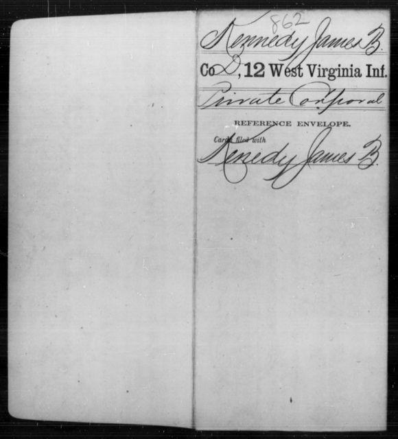 Kennedy, James B - Age [Blank], Year: [Blank] - Twelfth Infantry - West Virginia