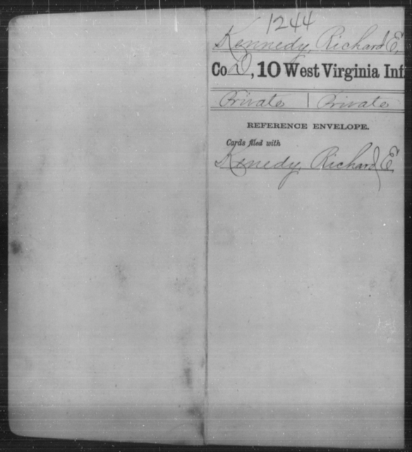 Kennedy, Richard E - Age [Blank], Year: [Blank] - Tenth Infantry - West Virginia