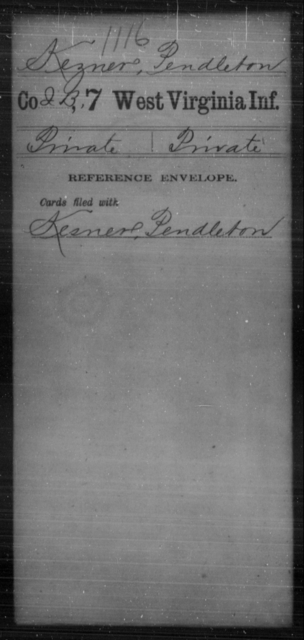 Kezner, Pendleton - Age [Blank], Year: [Blank] - Seventh Infantry - West Virginia
