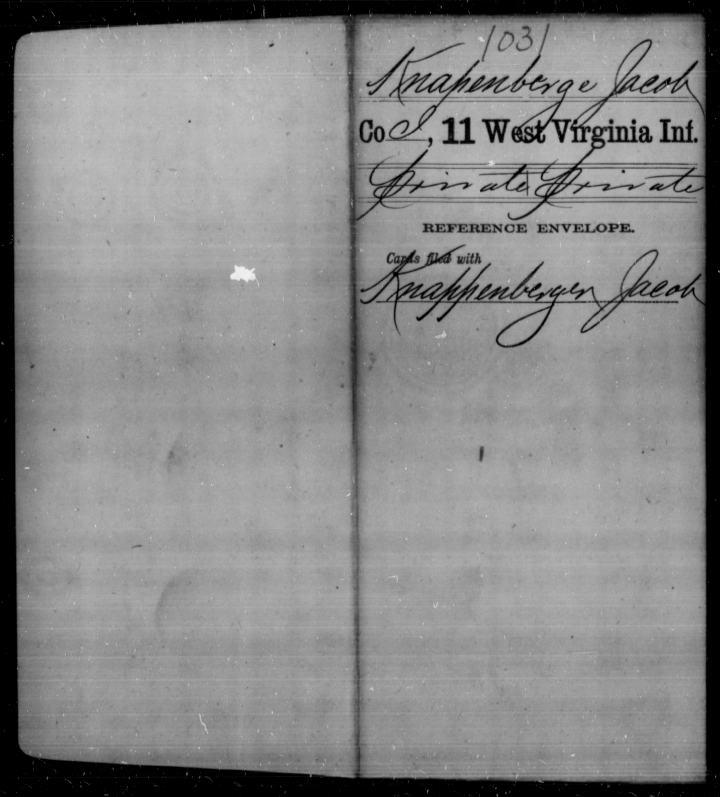 Knapenberge, Jacob - Age [Blank], Year: [Blank] - Eleventh Infantry - West Virginia
